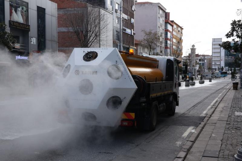 Mikronsis Aracı Sokaklarda Dezenfekte Çalışmasına Başladı