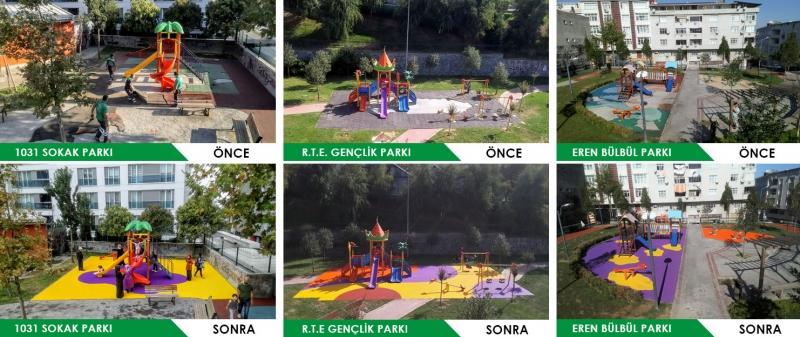 Parklar Yenileniyor Çocukların Yüzü Gülüyor