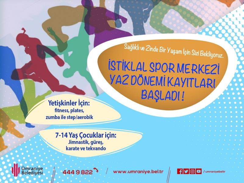 Ümraniye Belediyesi İstiklal Spor Merkezi'nde Yeni Dönem Kayıtları Başladı
