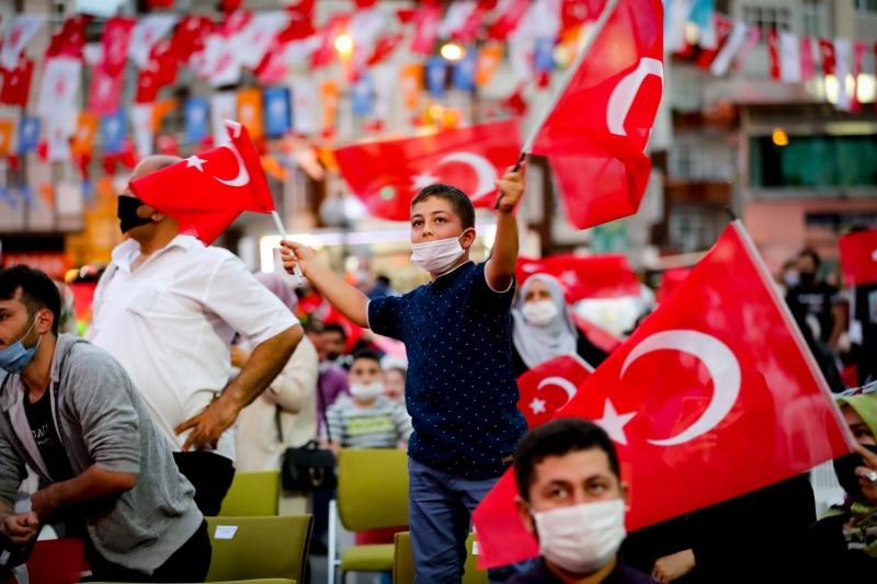 Ümraniye'de 15 Temmuz Demokrasi Nöbeti