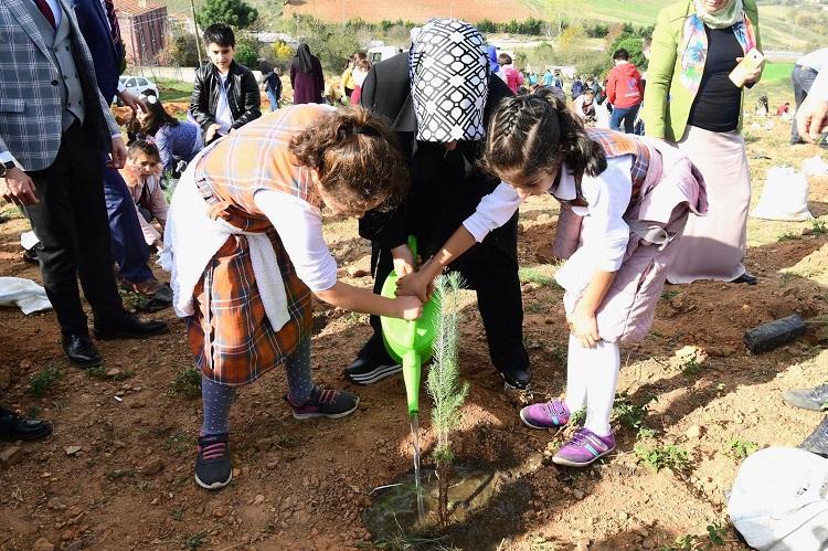 "Milli Ağaçlandırma Günü'nde ""Bugün Fidan, Yarın Nefes"" Sloganıyla Fidanlar Toprağa Dikildi"