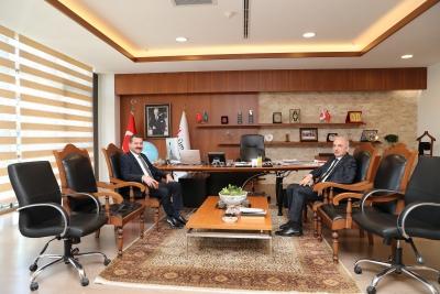 Balıkesir Büyükşehir Belediye Başkanı Yücel Yılmaz'dan Başkan İsmet Yıldırım'a Ziyaret
