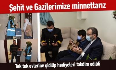 Başkan Ahmet Cin şehit ve gazi yakınlarını ziyaret etti