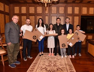 Başkan Yazıcı, Okullar Arası Bitkisel Atık Yağ Toplama Yarışmasında Dereceye Giren Okullar ve Öğrenciler Ödüllendirdi