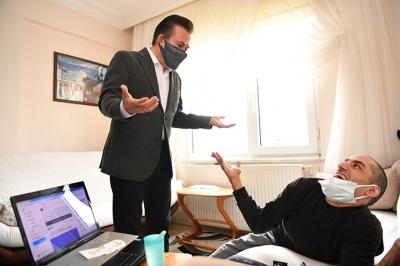 Başkan Yazıcı'dan Engelli Yazar Ersin Ata'ya Anlamlı Ziyaret