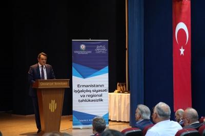 """""""Ermenistan'ın Bölgedeki İşgalci Politikası ve Etkilerinin Bertaraf Edilmesi"""" Konulu Konferans Ümraniye'de Düzenlendi"""