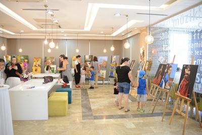 Hasan Koçan ve Öğrencileri, Tuzla Belediyesi Rumeli Kültür Merkezi'nde Sergi Açtı