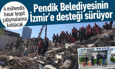 Pendik Belediyesinin İzmir'e desteği sürüyor