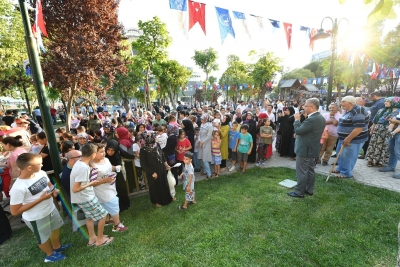 ŞEHİT TİMUR AKTEMUZ PARKI'NDA 5 ÇAYI BULUŞMASI GERÇEKLEŞTİ